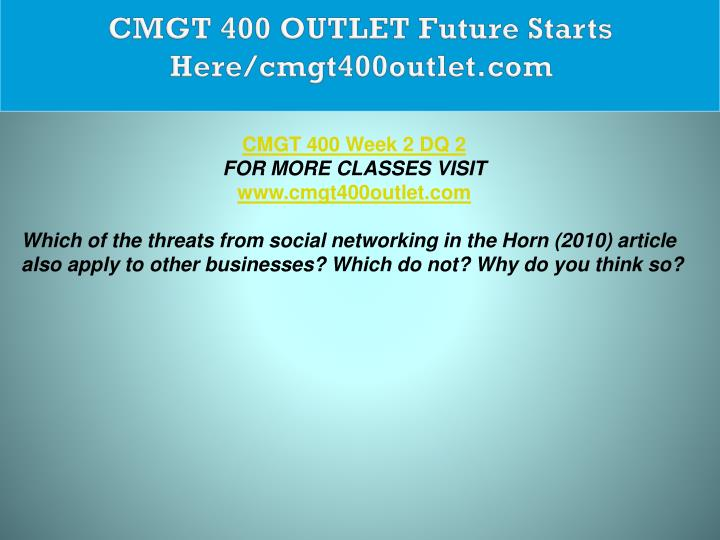 CMGT 400 OUTLET Future Starts Here/cmgt400outlet.com