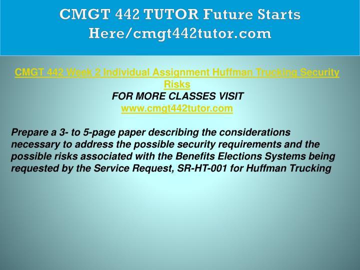 CMGT 442 TUTOR Future Starts Here/cmgt442tutor.com