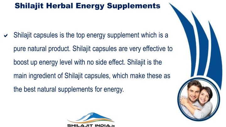 Shilajit Herbal Energy Supplements