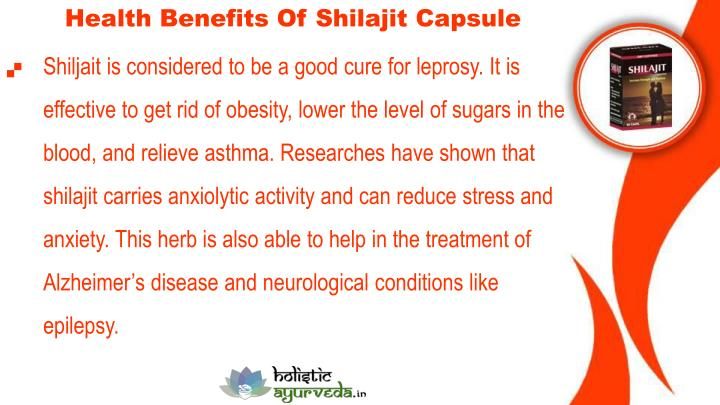 Health Benefits Of Shilajit Capsule