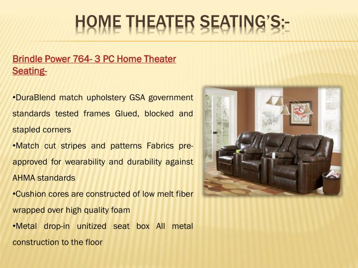 home theater seating's:-