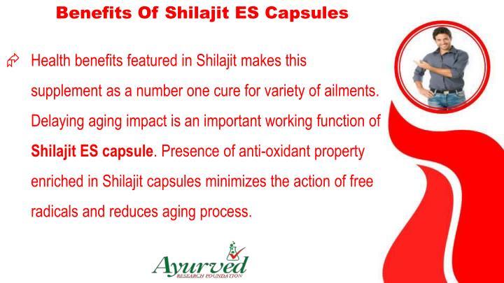 Benefits Of Shilajit ES Capsules