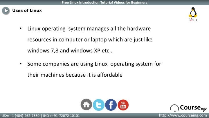Uses of Linux