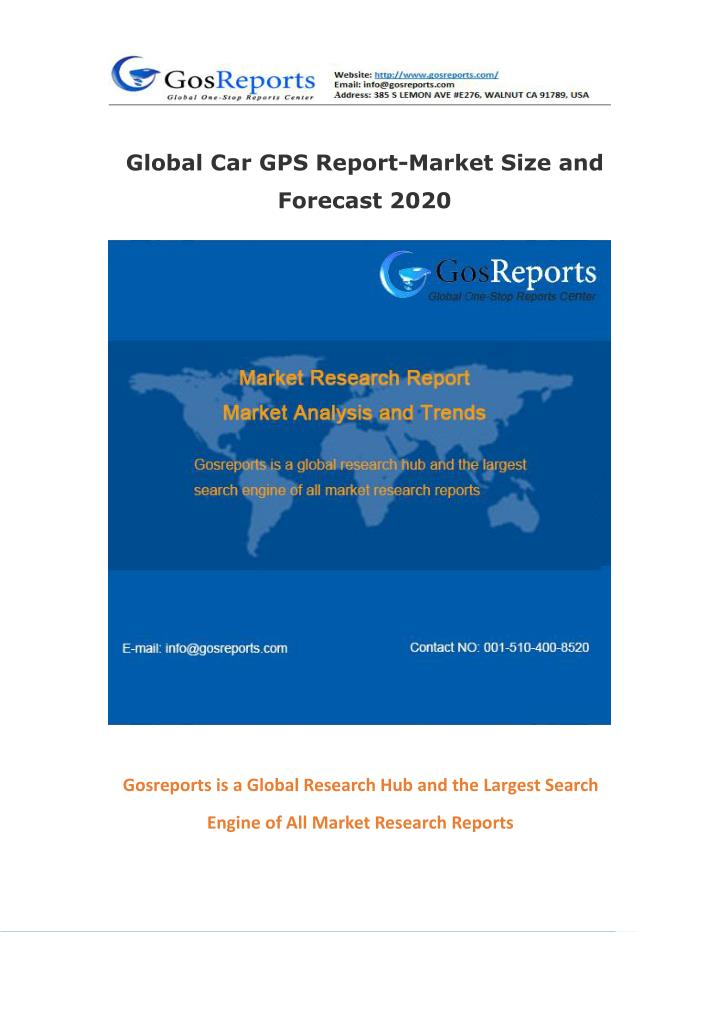 Global Car GPS Report-Market Size and