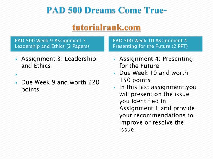 Pad 500 dreams come true tutorialrank com2