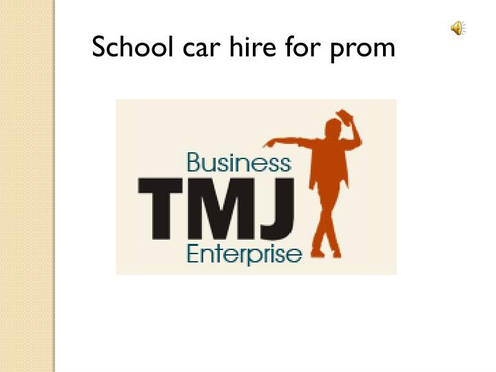 School car hire for prom