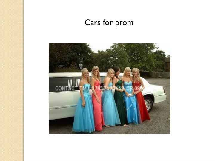 Cars for prom