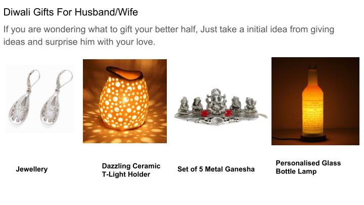 Diwali Gifts For Husband/Wife