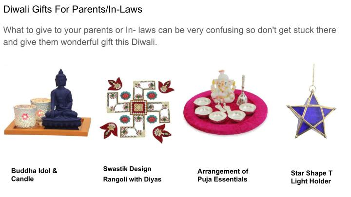 Diwali Gifts For Parents/In-Laws