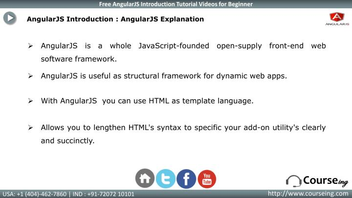 AngularJS Introduction : AngularJS Explanation