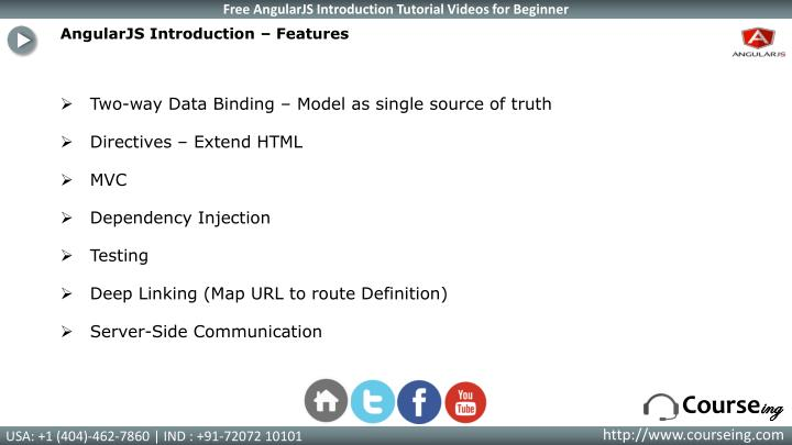 AngularJS Introduction – Features
