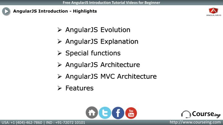 AngularJS Introduction - Highlights