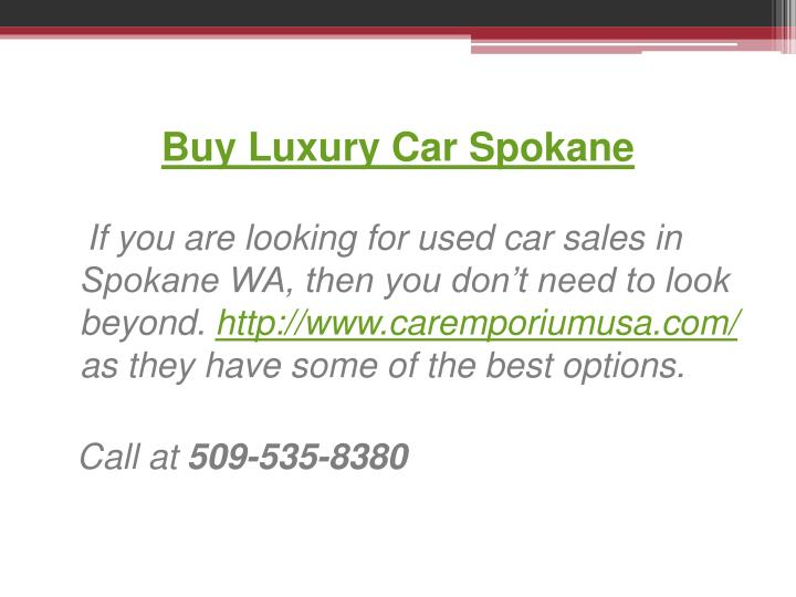 Buy Luxury Car Spokane