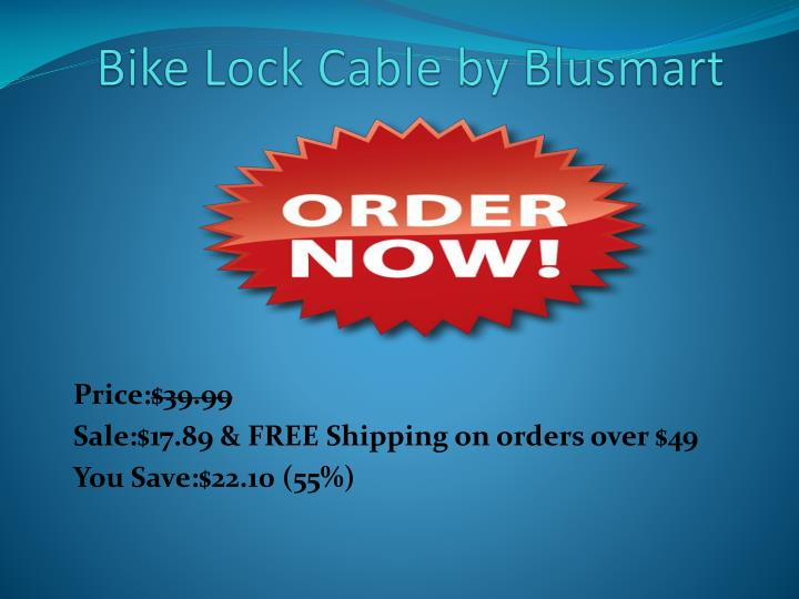 Bike Lock Cable by