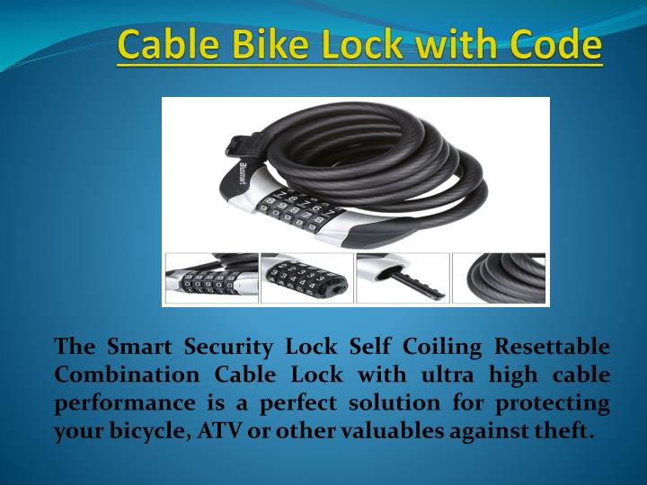 Cable bike lock with code
