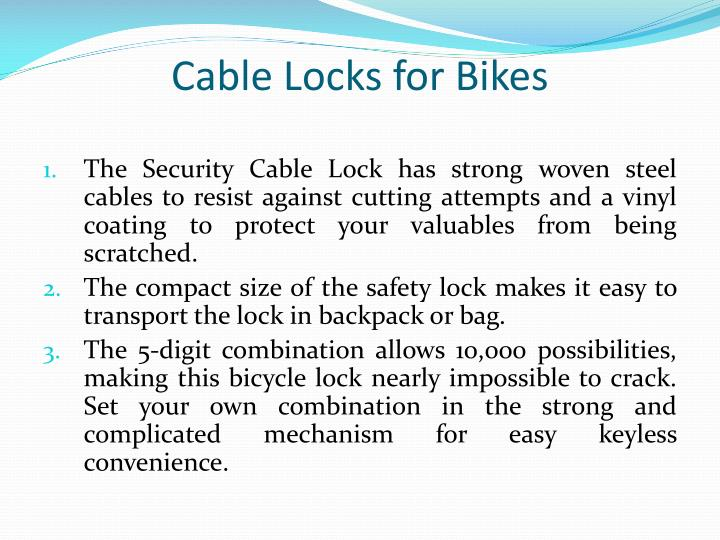 Cable Locks for Bikes