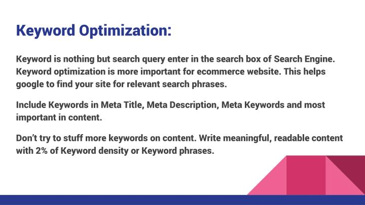 Keyword Optimization: