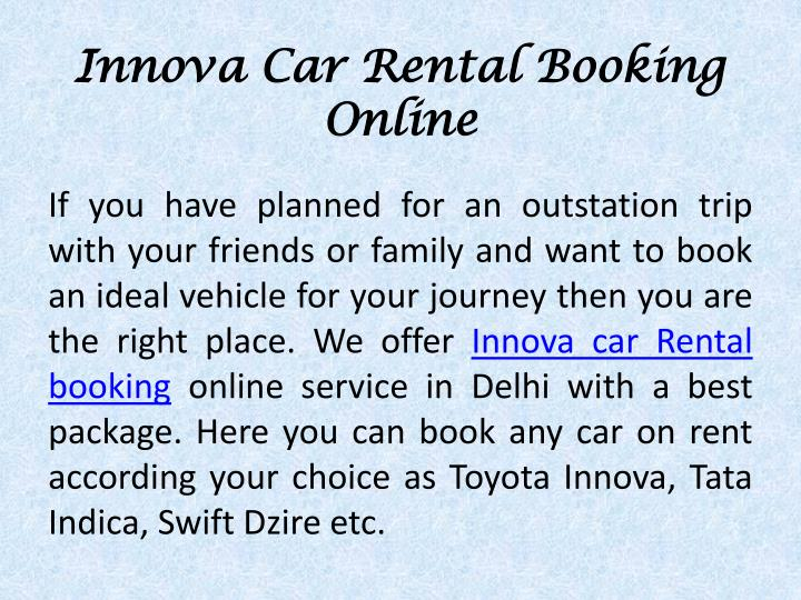 Innova Car Rental Booking Online