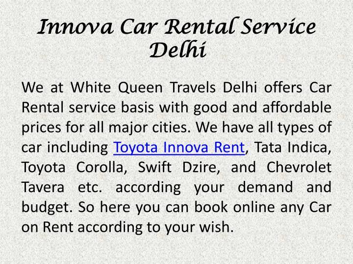 Innova Car Rental Service Delhi
