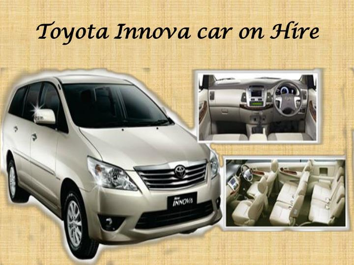 Toyota Innova car on Hire