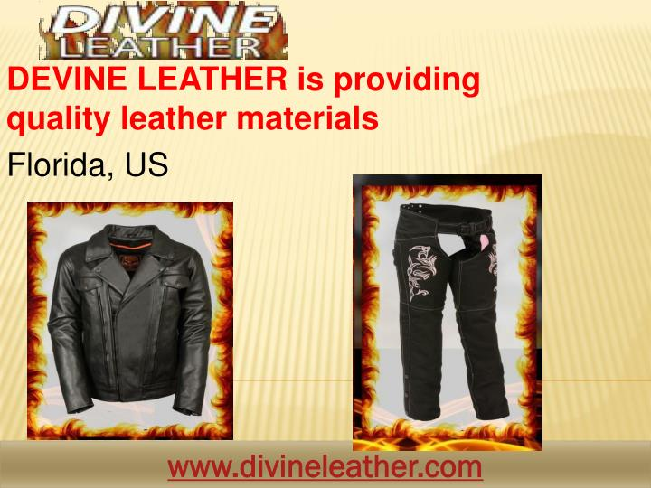 Devine leather is providing q uality leather materials