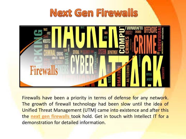 Next Gen Firewalls