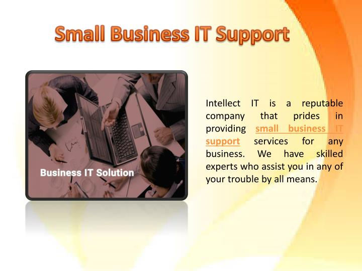 Small business it support services intellect it