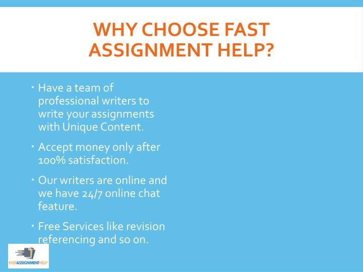 Why Choose Fast Assignment Help?