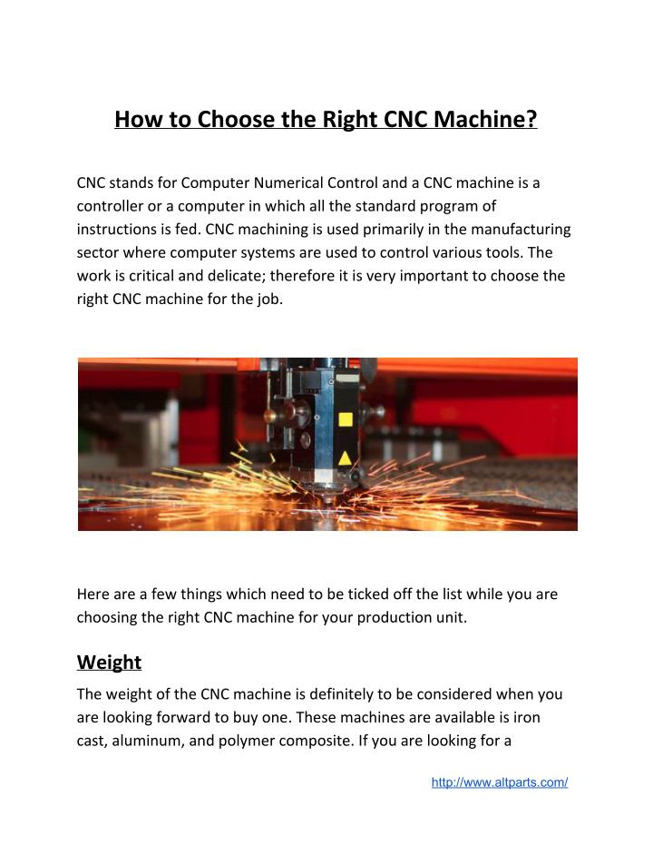 How to Choose the Right CNC Machine?