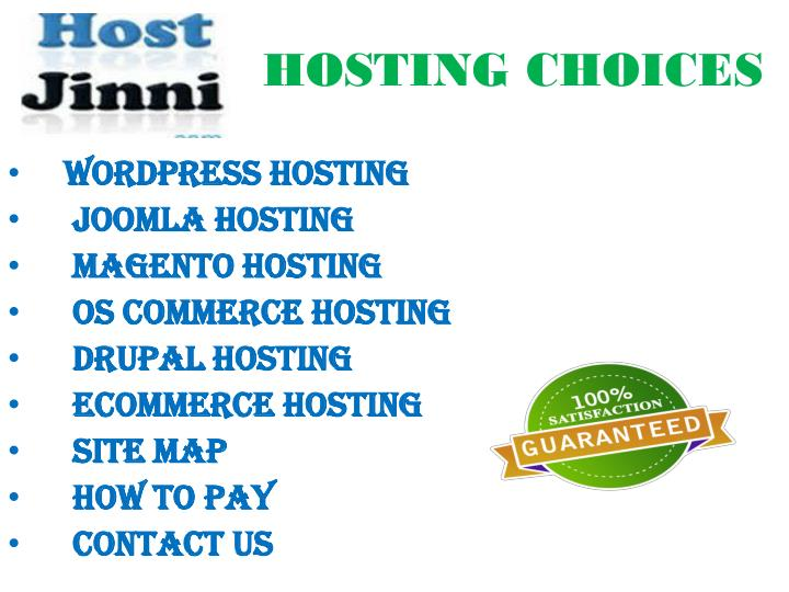 HOSTING CHOICES