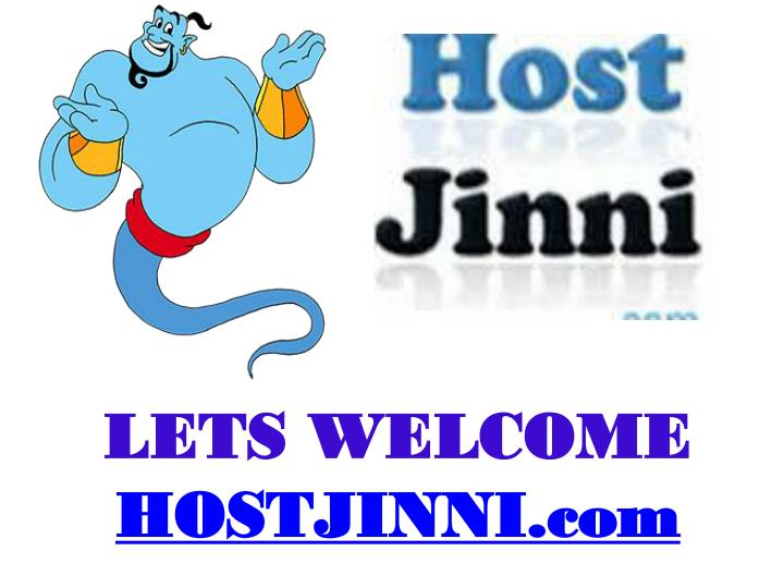 Lets welcome hostjinni com