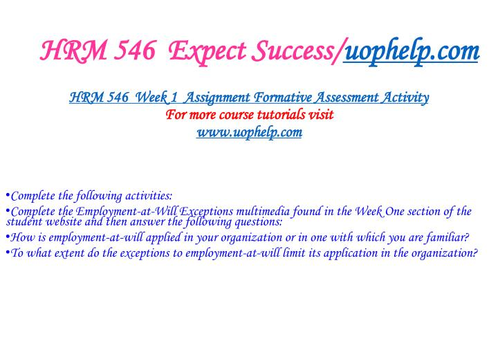Hrm 546 expect success uophelp com1
