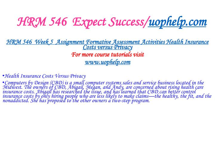 HRM 546  Expect Success/