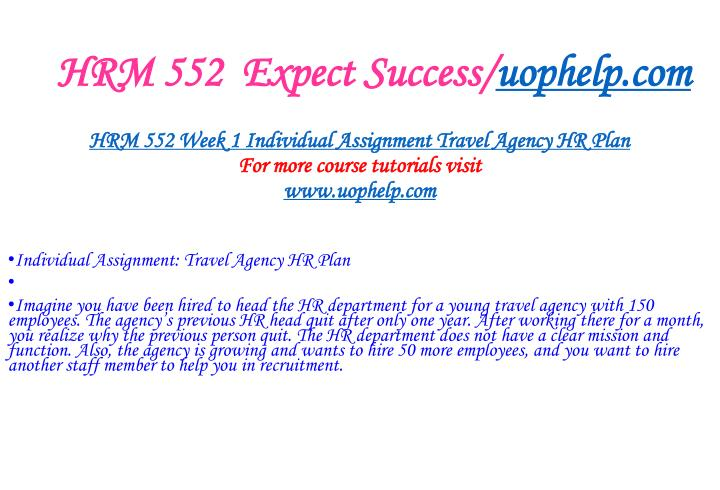 Hrm 552 expect success uophelp com2