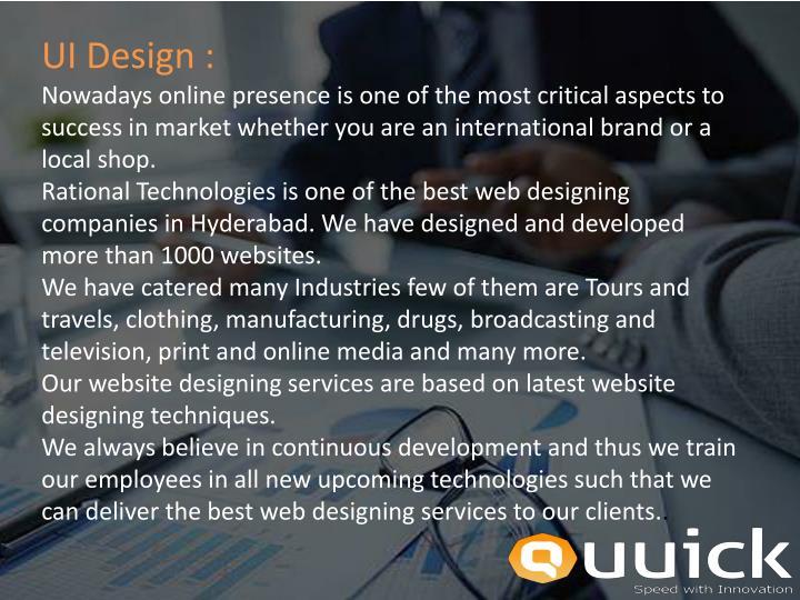 UI Design :