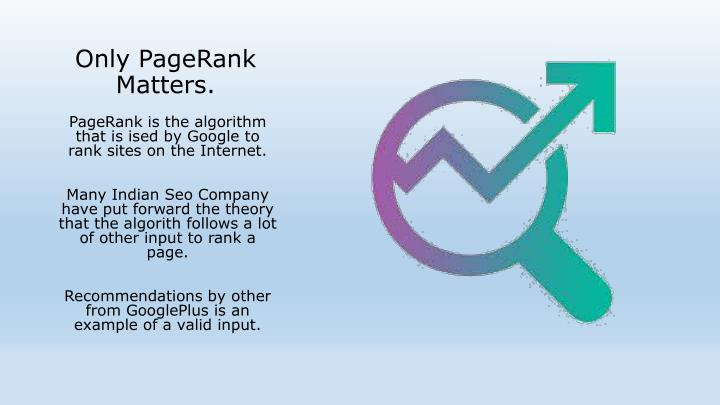 Only PageRank Matters.