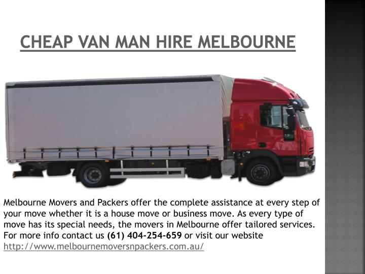 Cheap Van Man Hire Melbourne