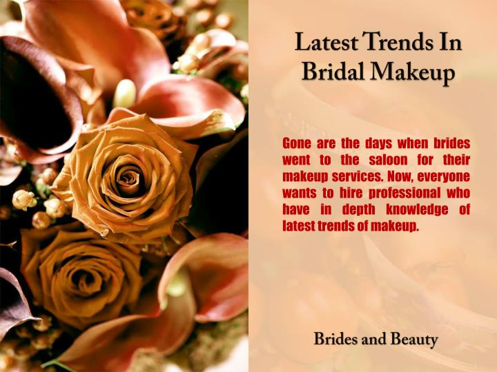 Latest Trends In Bridal Makeup