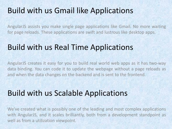 Build with us Gmail like Applications