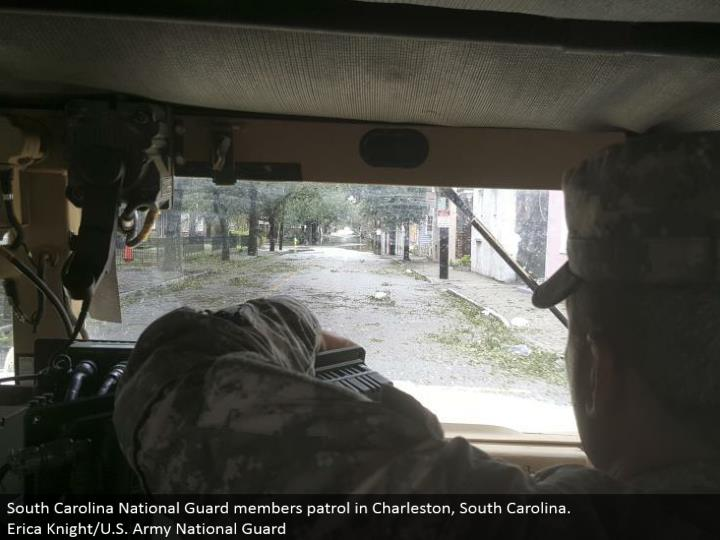 South Carolina National Guard individuals watch in Charleston, South Carolina. Erica Knight/U.S. Armed force National Guard