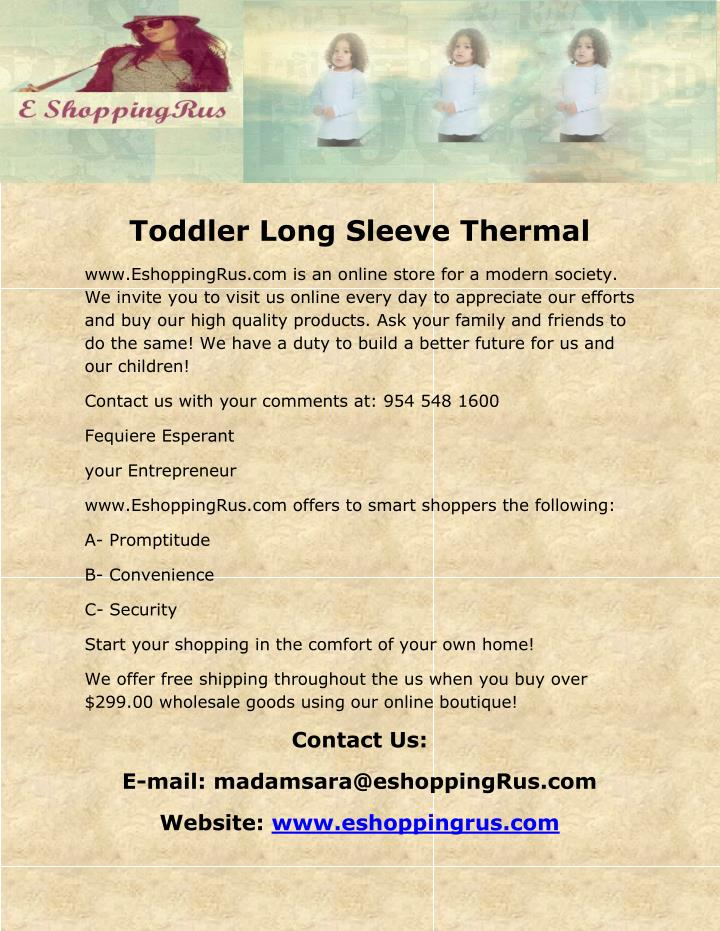 Toddler Long Sleeve Thermal