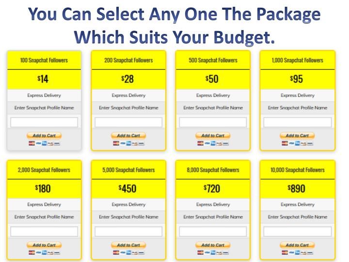 You Can Select Any One The Package Which Suits Your Budget.