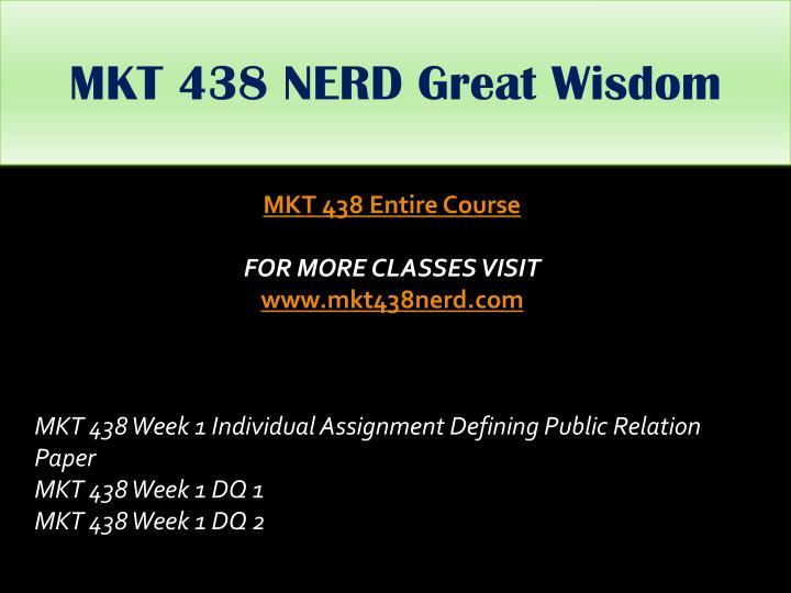 MKT 438 NERD Great
