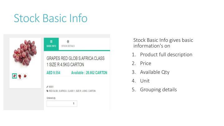 Stock Basic Info