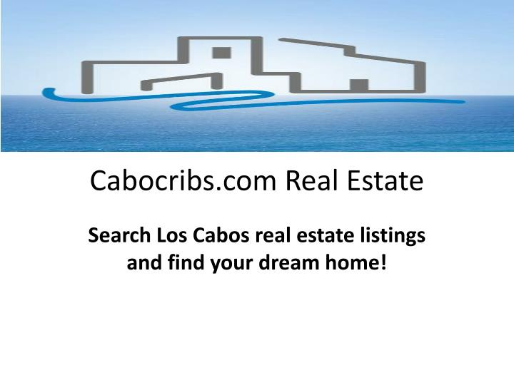 Cabocribs com real estate