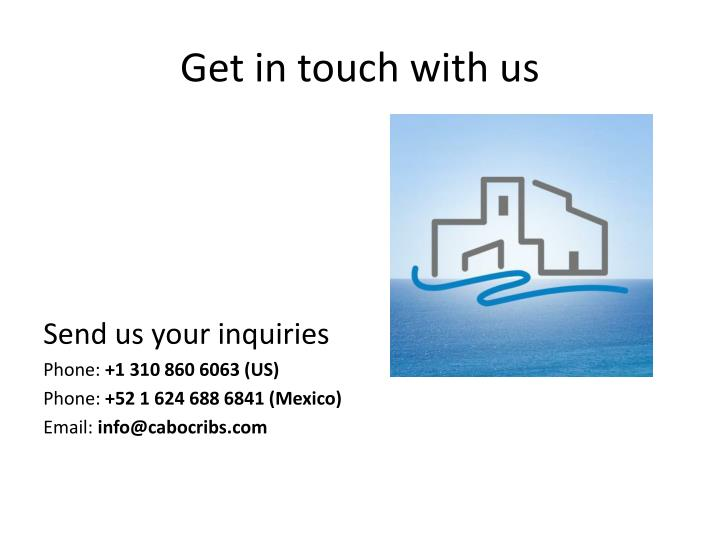 Get in touch with us