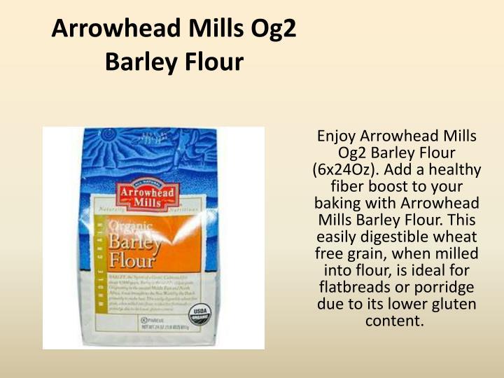 Arrowhead Mills Og2 Barley Flour