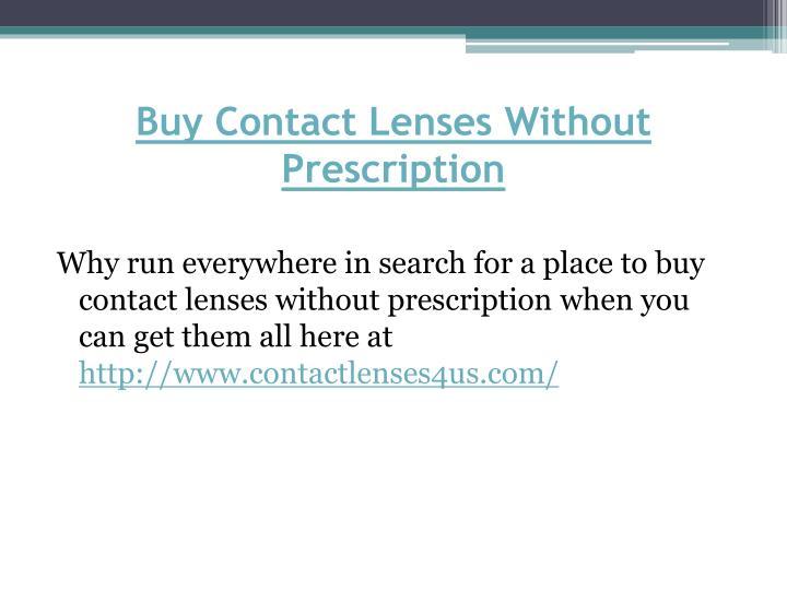 Buy Contact Lenses Without Prescription