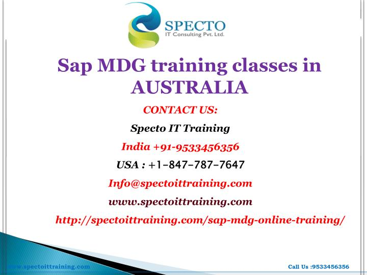 Sap MDG training