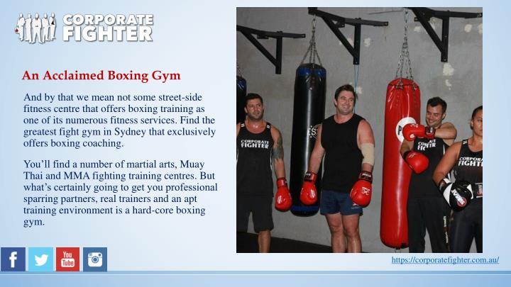 An Acclaimed Boxing Gym